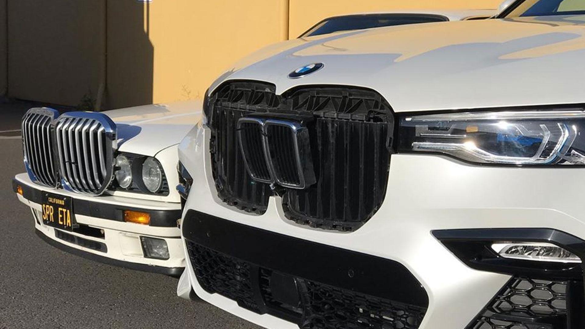grille van de BMW X7 op BMW 3-serie