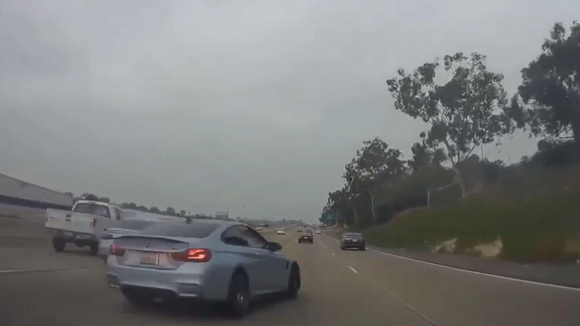 Straatrace tussen BMW M4 en Audi S8 eindigt in brokken