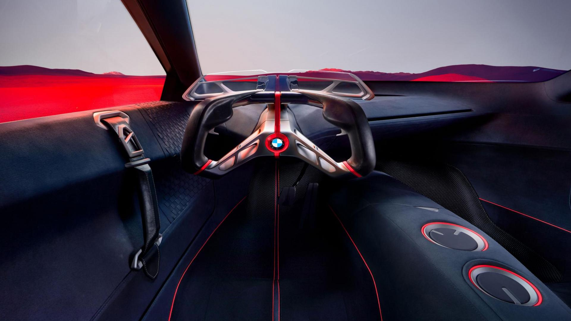 BMW Vision M Next 2019 interieur stuur