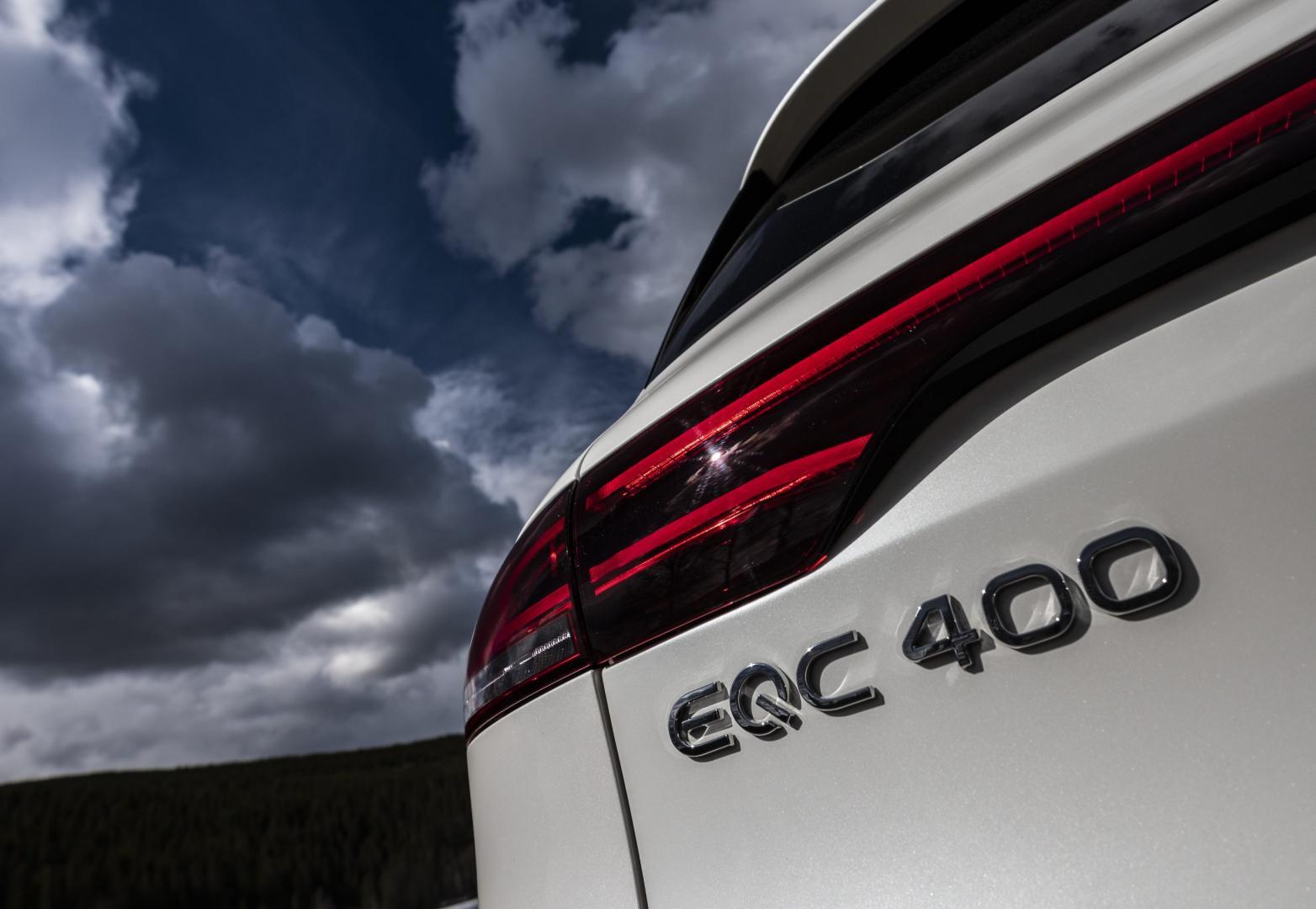 Mercedes-Benz EQC 400 logo badge
