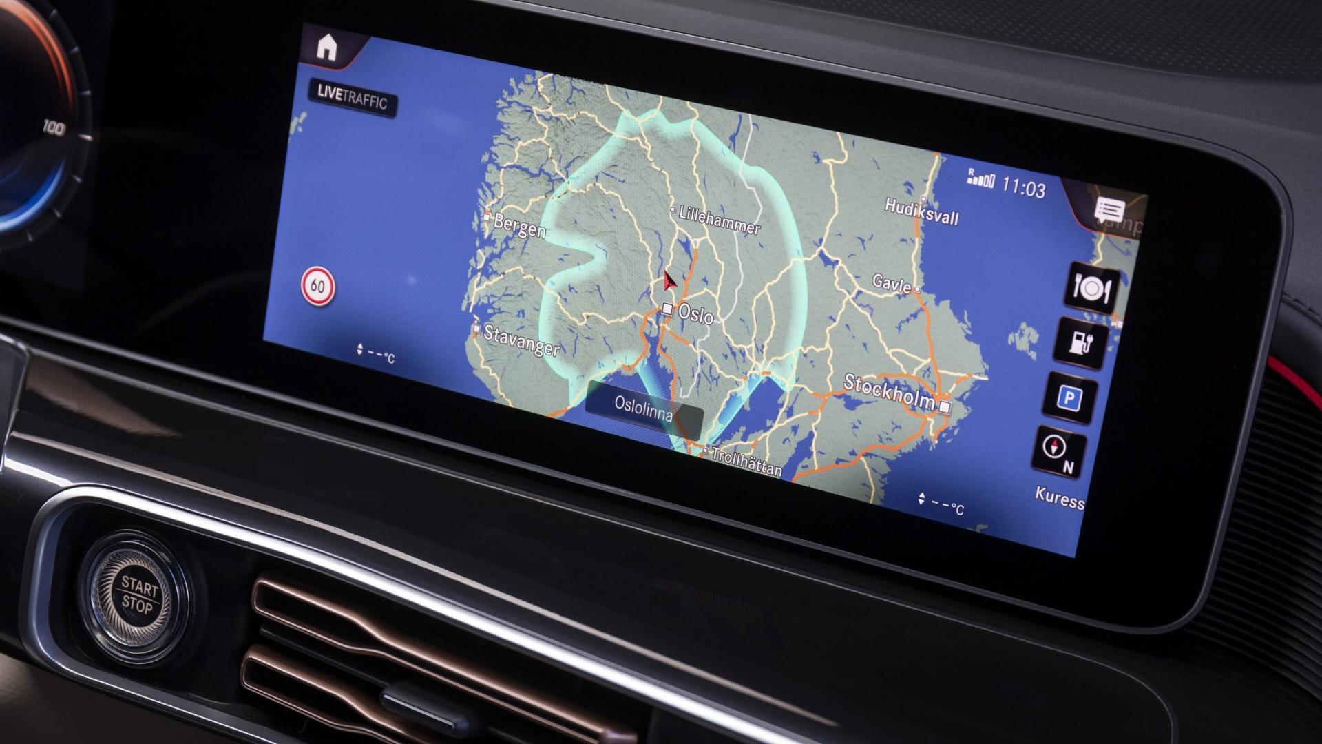 Mercedes-Benz EQC 400 navigatie