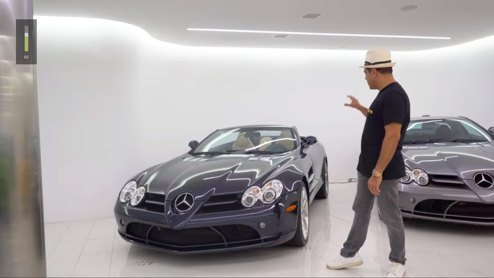 Miljonair geeft rondleiding in zijn garage / Mercedes SLR