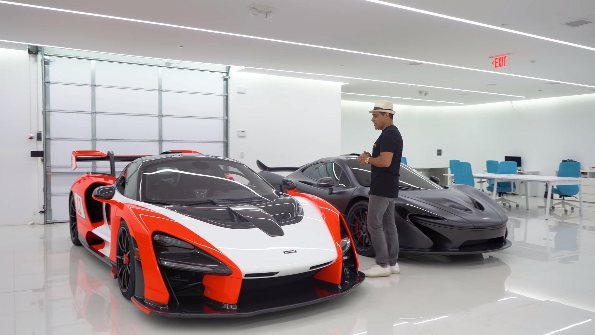 Miljonair geeft rondleiding in zijn garage / McLaren Senna en P1