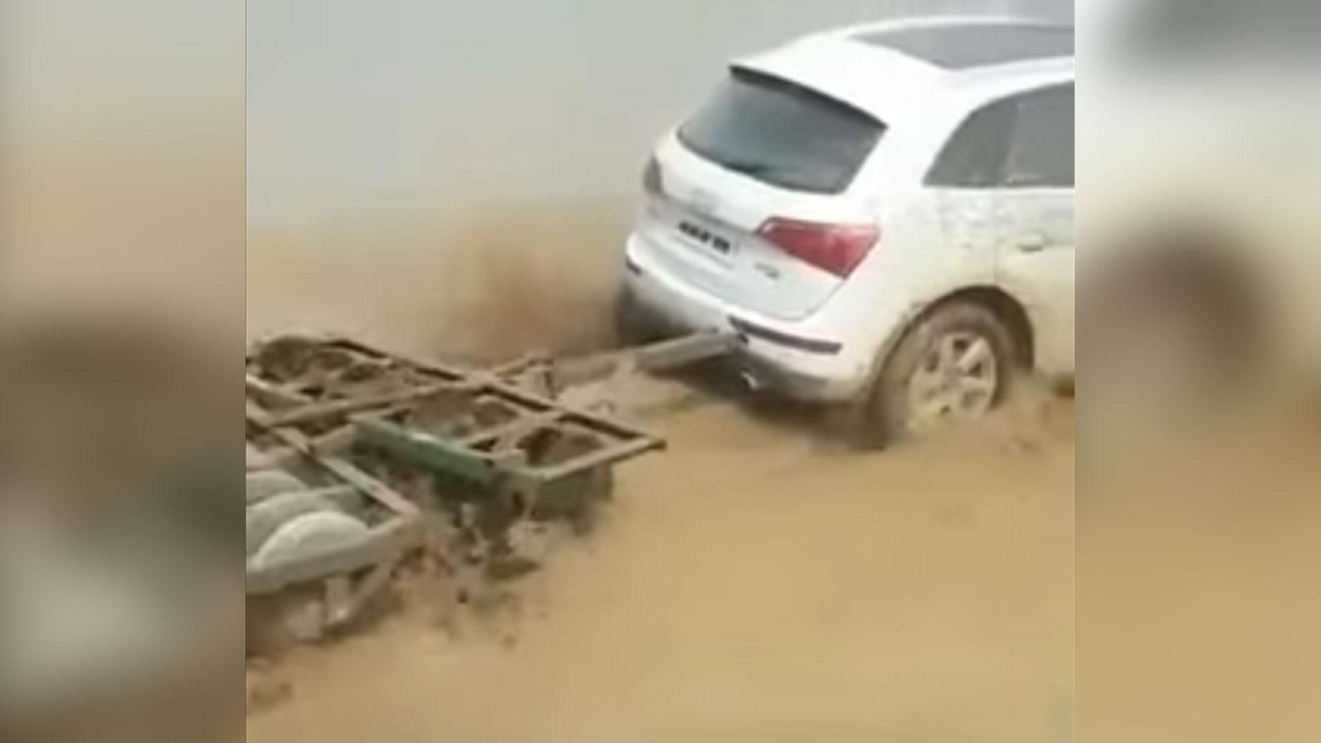 Audi Q5 gebruikt als tractor