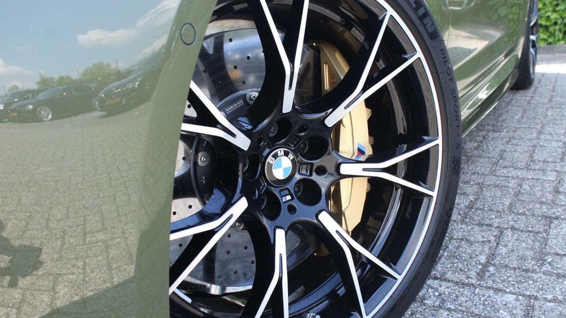 BMW M5 in Urban Green
