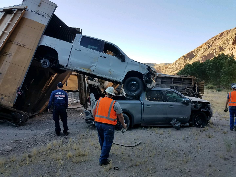 GMC trein ontspoort crash