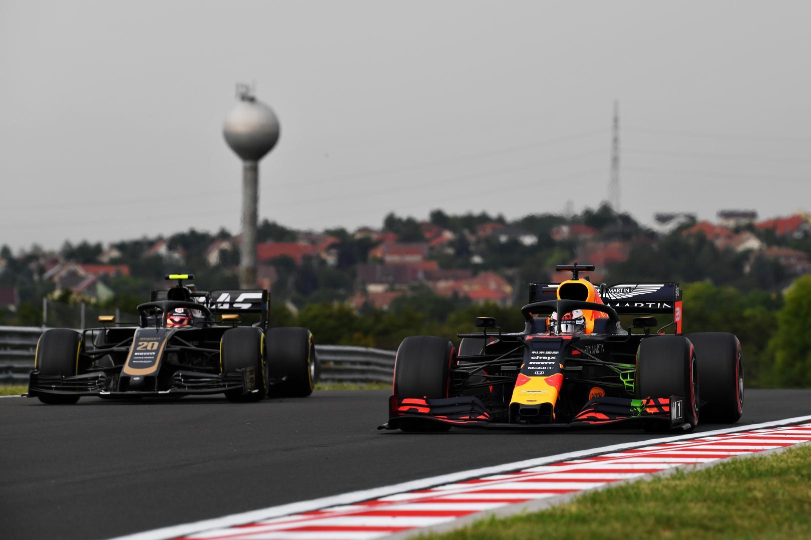 2e vrije training van de GP van Hongarije 2019