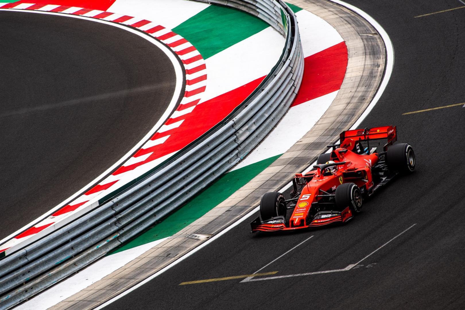 3e vrije training van de GP van Hongarije 2019