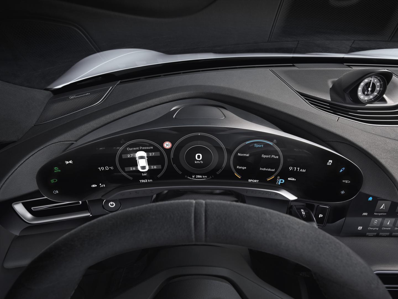 Porsche Taycan 2019 interieur