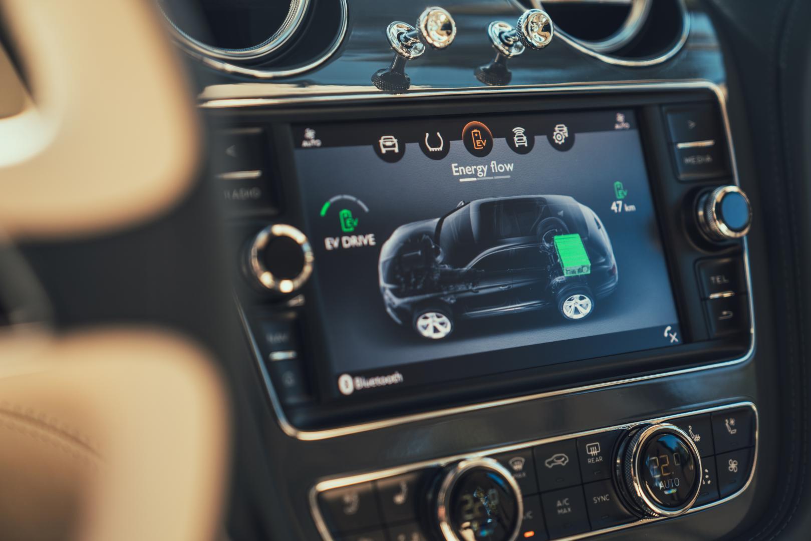Bentley Bentayga Hybrid detail scherm