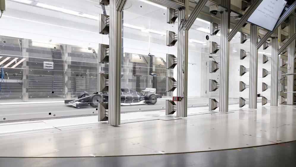 F1 auto's van 2021 schaalmodel windtunnel