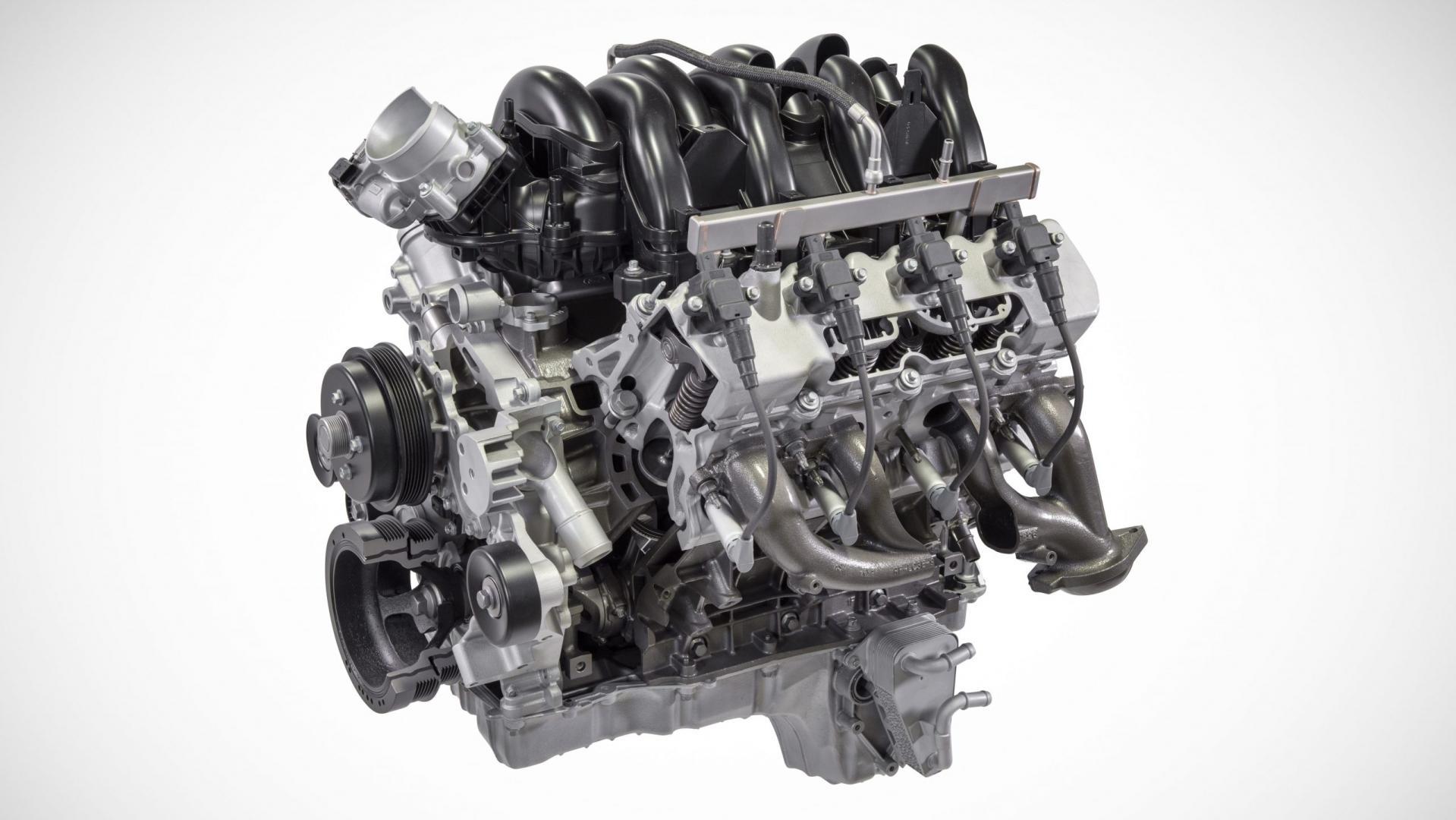 De 7,3-liter V8 van Ford