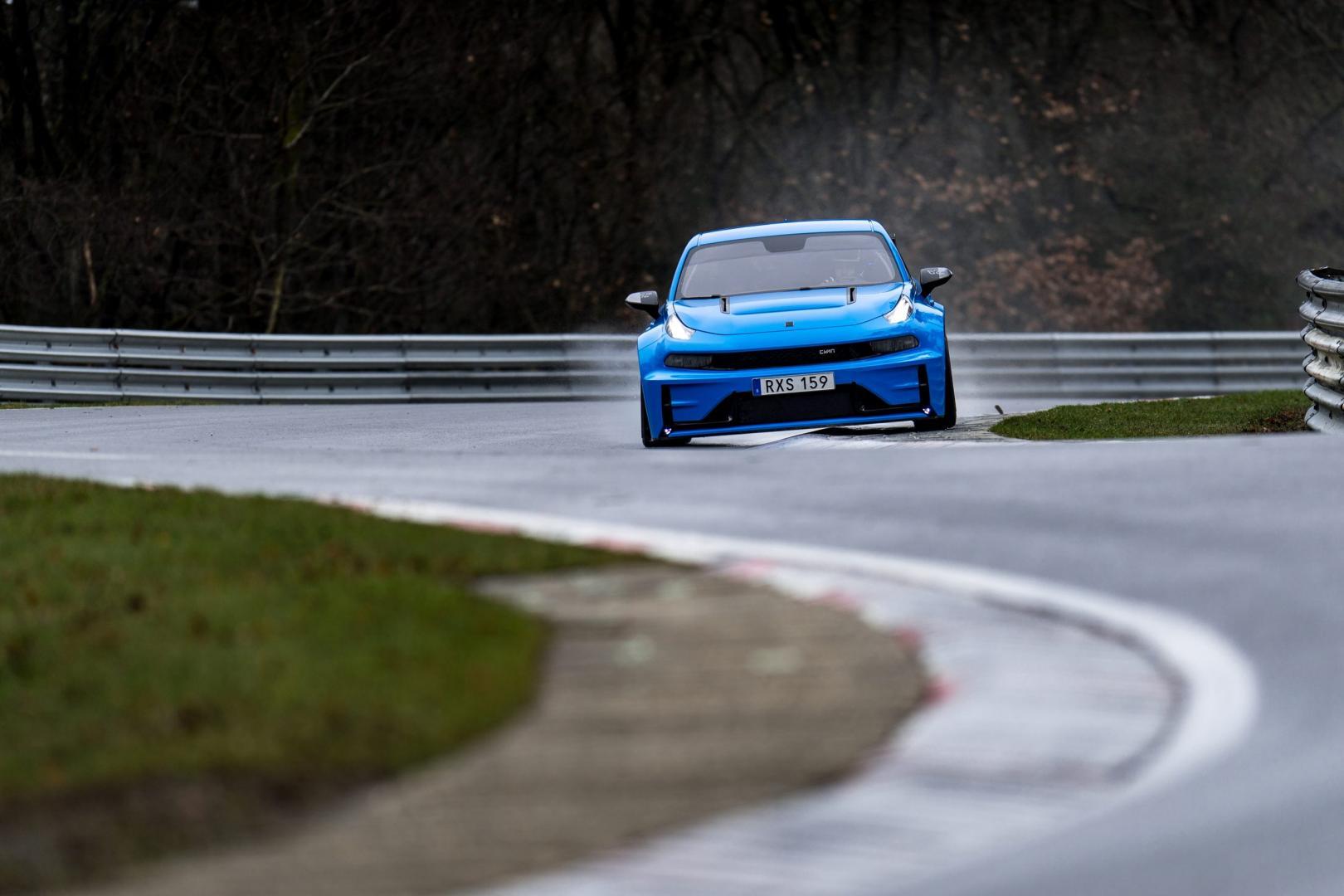 Lynk&Co 03 Cyan Concept twee Ringrecords Nürburgring record vierdeurs sedan