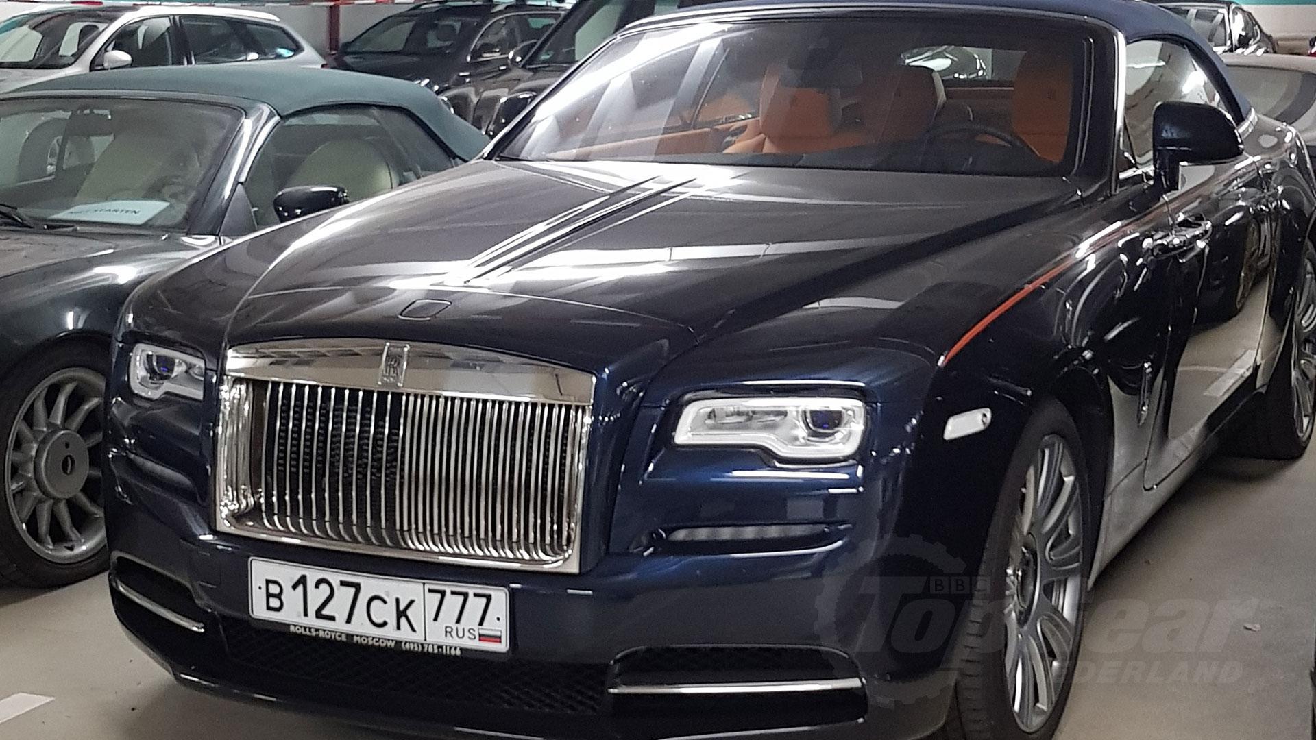 Rolls-Royce met Russische platen in Trier, Duitsland