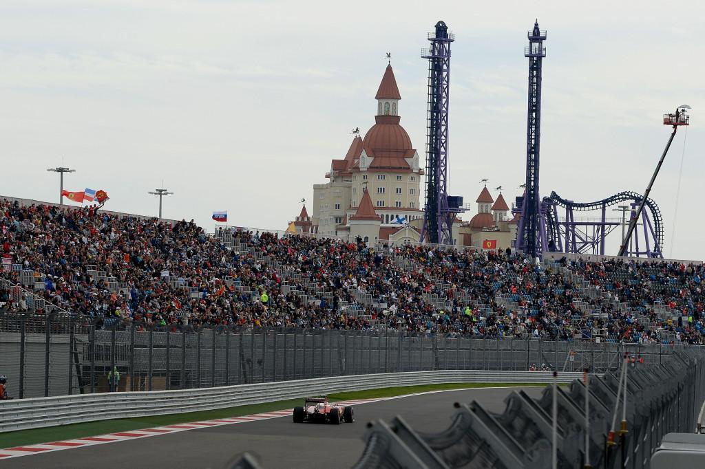 Grand Prix van Rusland Ferrari met achtbaan