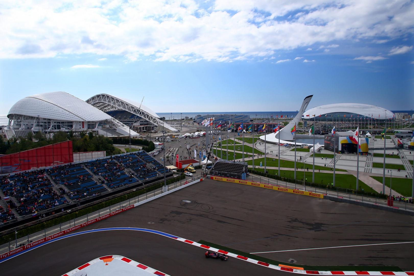 Grand Prix van Rusland overview Olympisch dorp