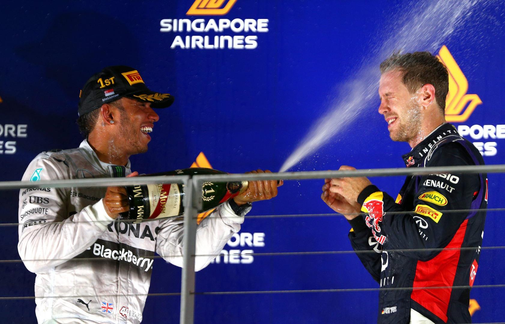 Hamilton en Vettel