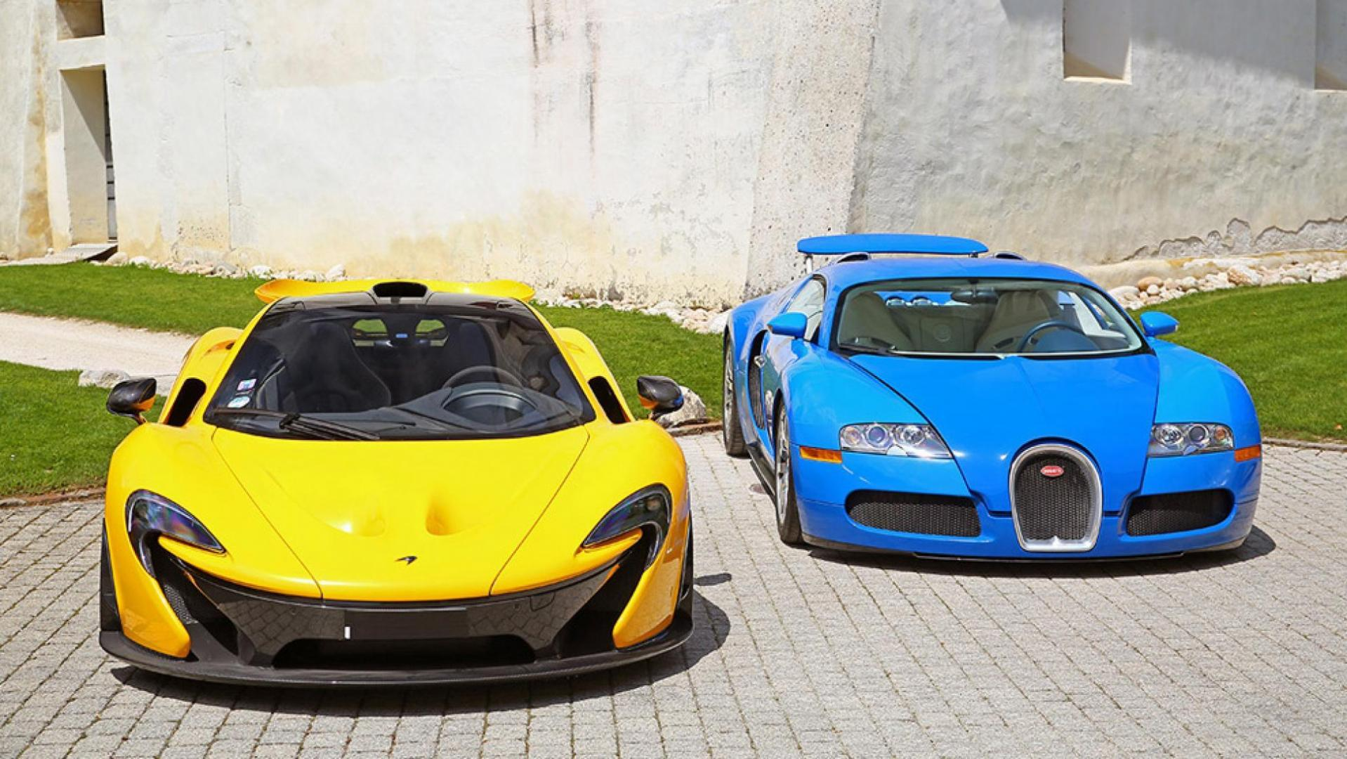McLaren en Bugatti Veyron