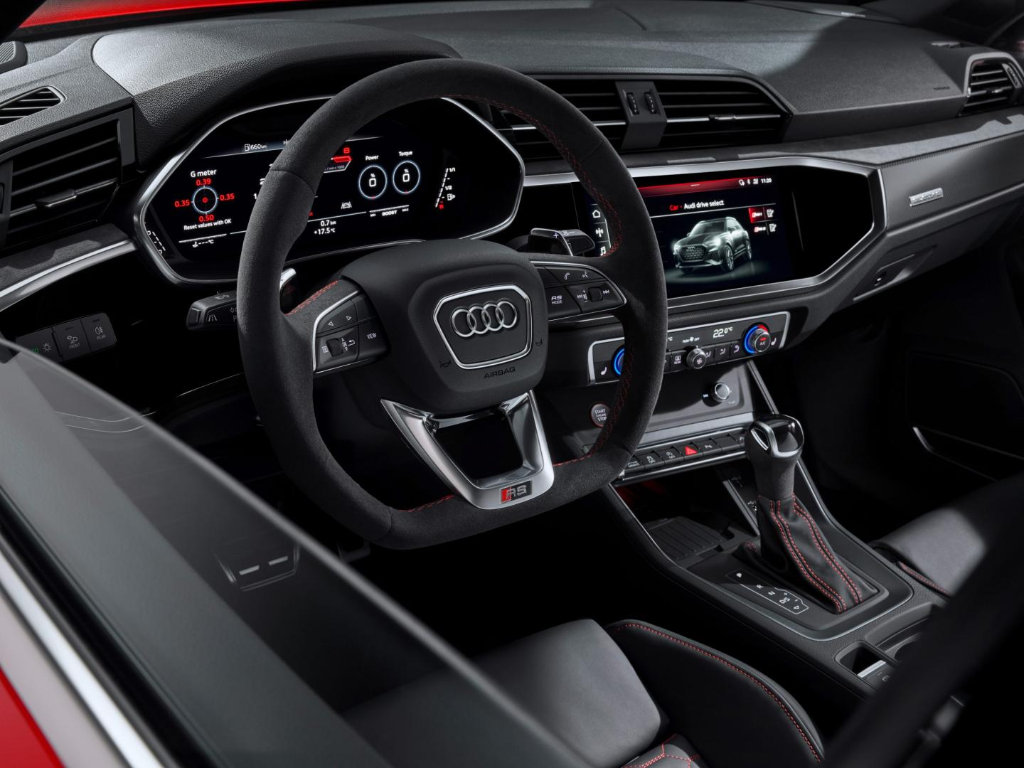 Audi RS Q3 dashboard interieur stuur
