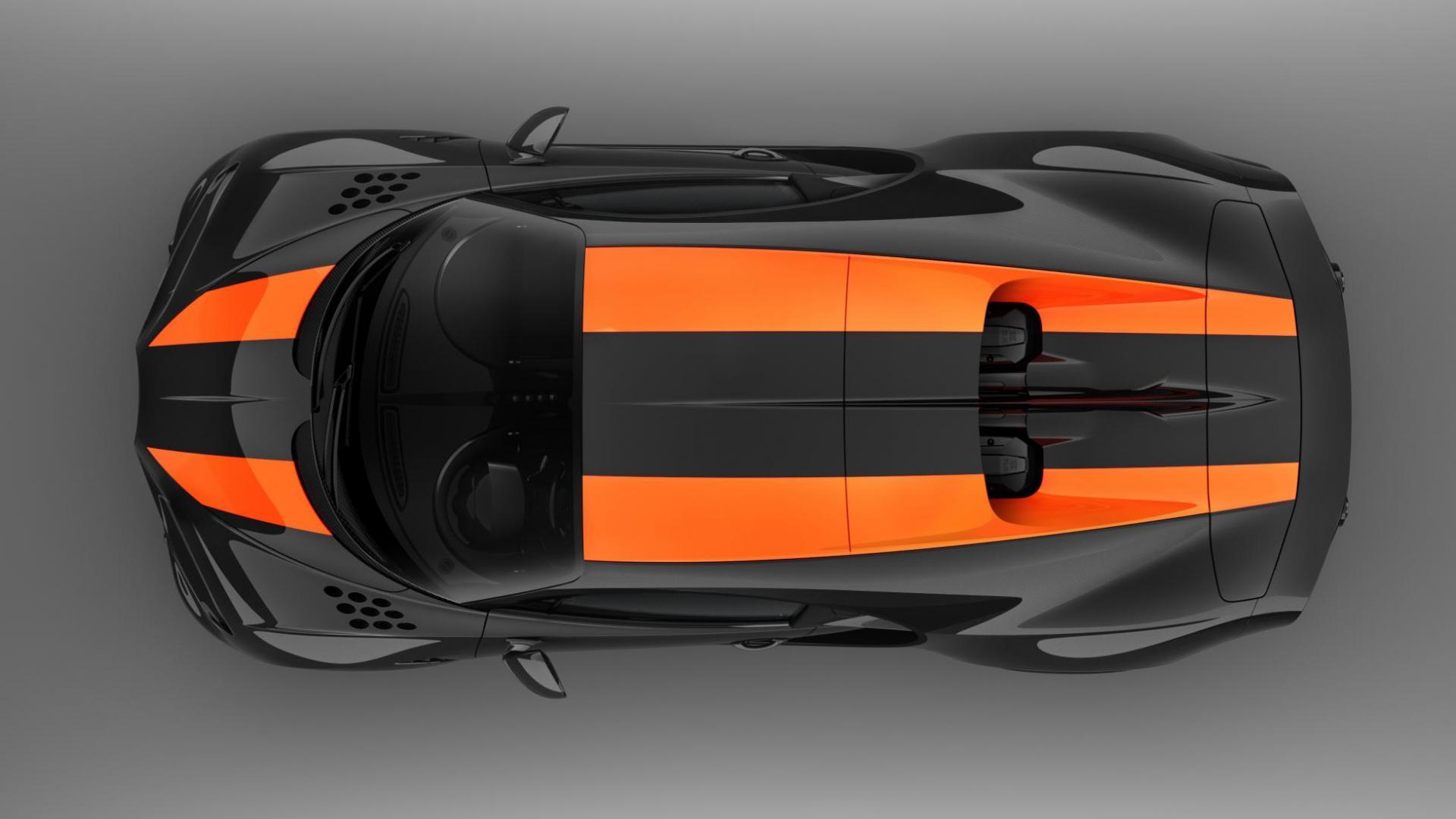 Bugatti Chiron Super Sport 300 bovenaanzicht