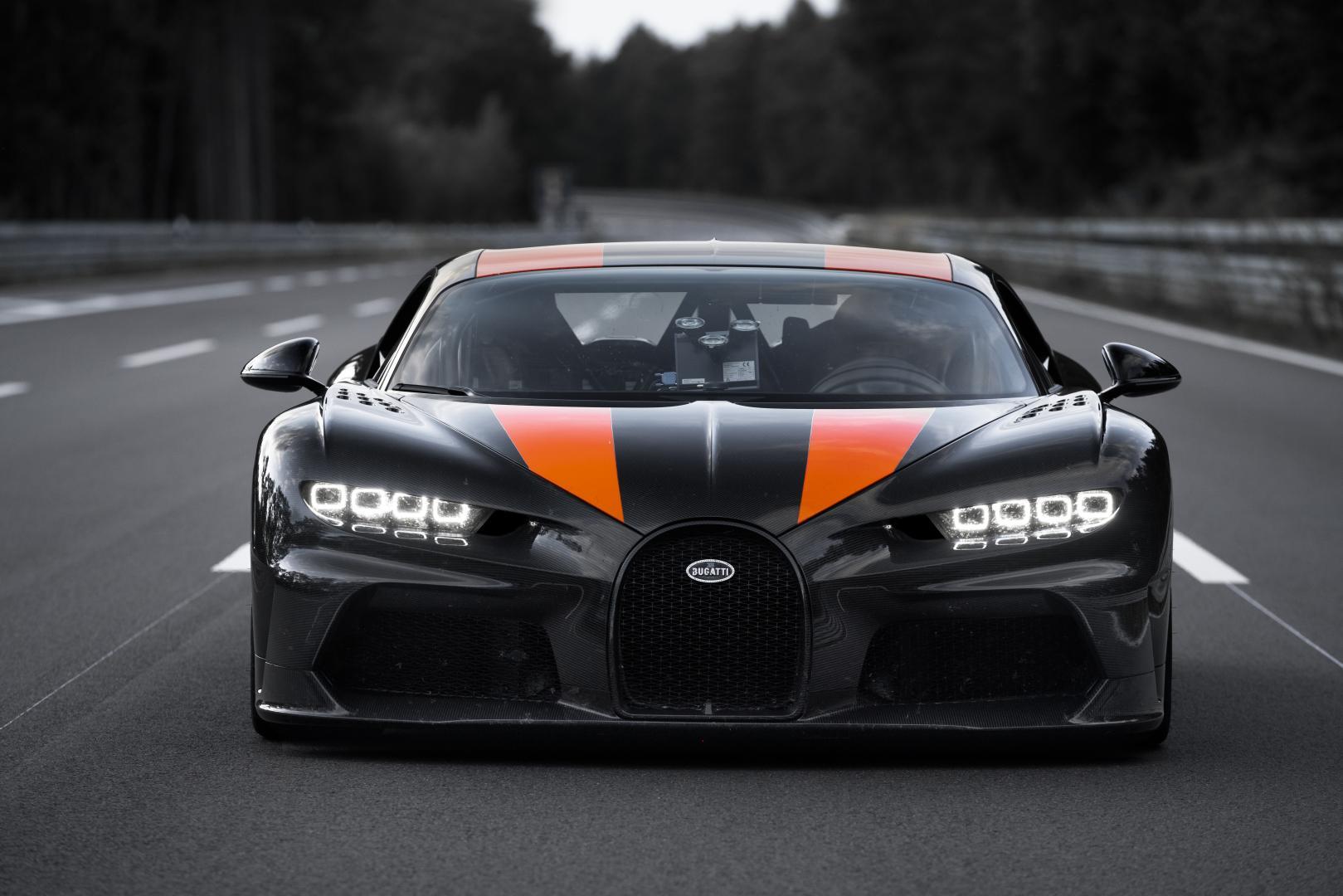Bugatti Chiron wereldrecord longtail