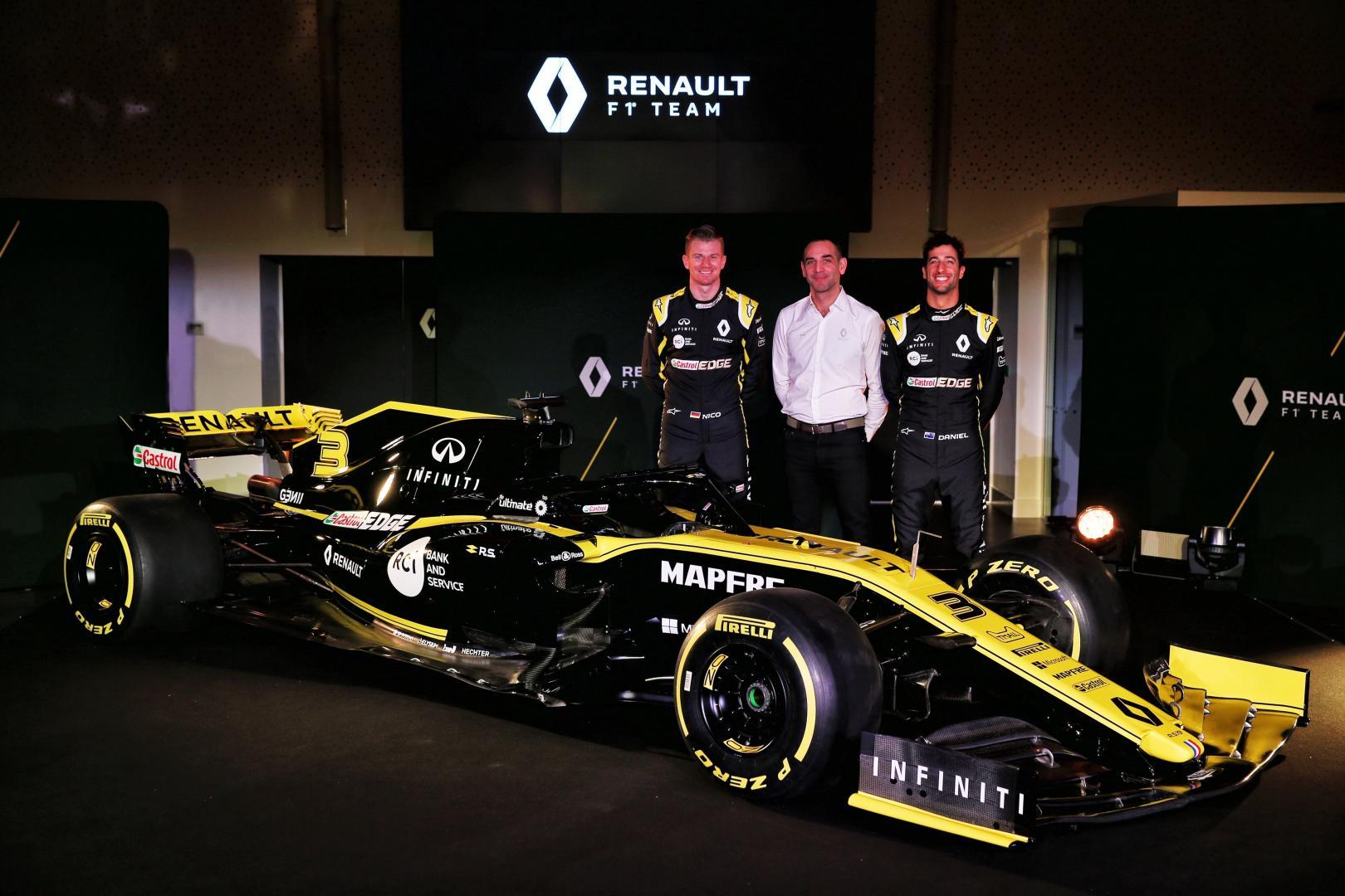Daniel Ricciardo en Nico Hulkenberg bij Renault F1
