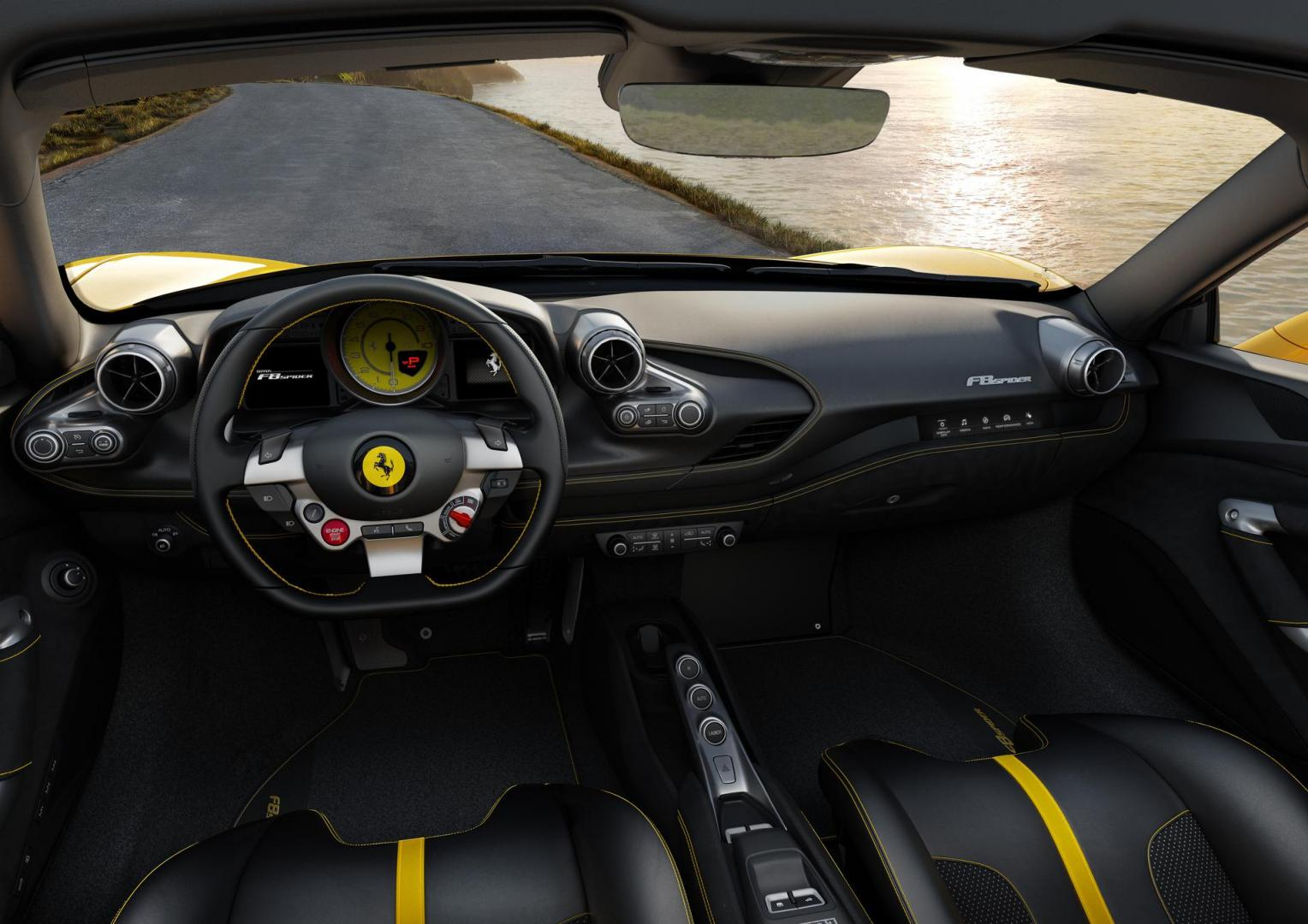 Ferrari F8 Spider interieur