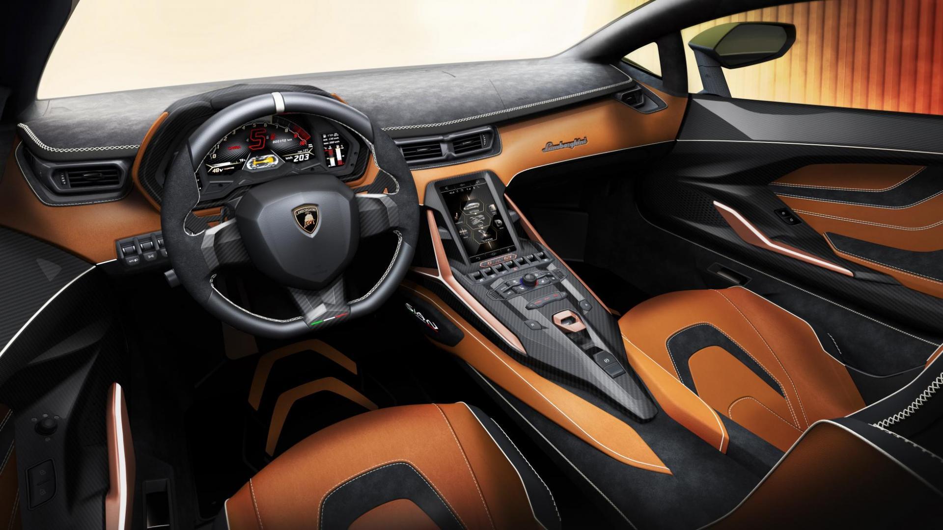 Lamborghini Sian interieur