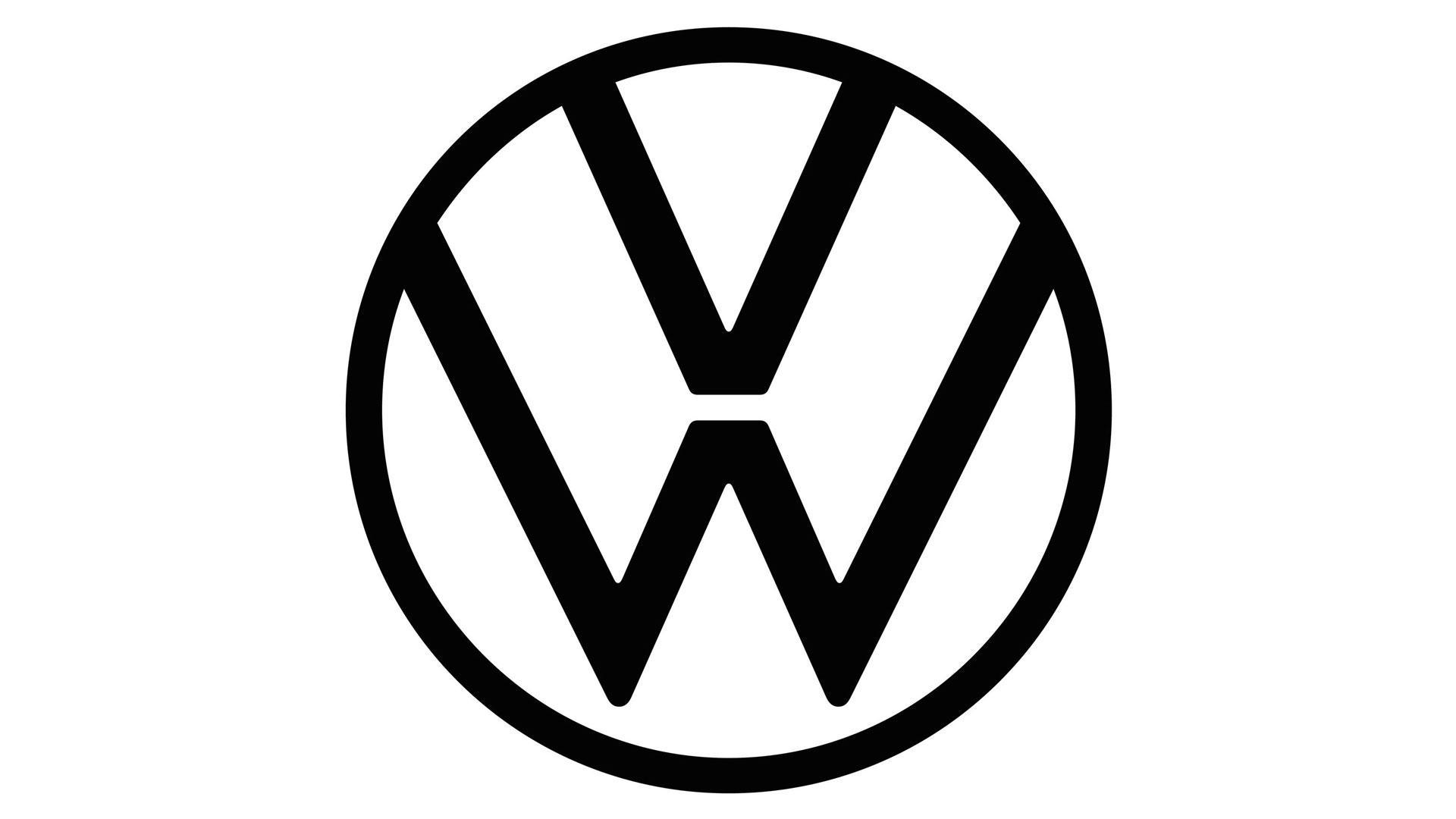 nieuw volkswagen-logo zwart wit 2019