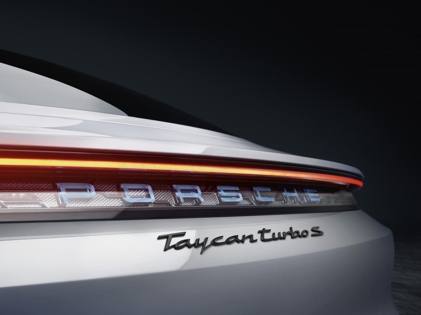 Porsche Taycan Turbo S badge