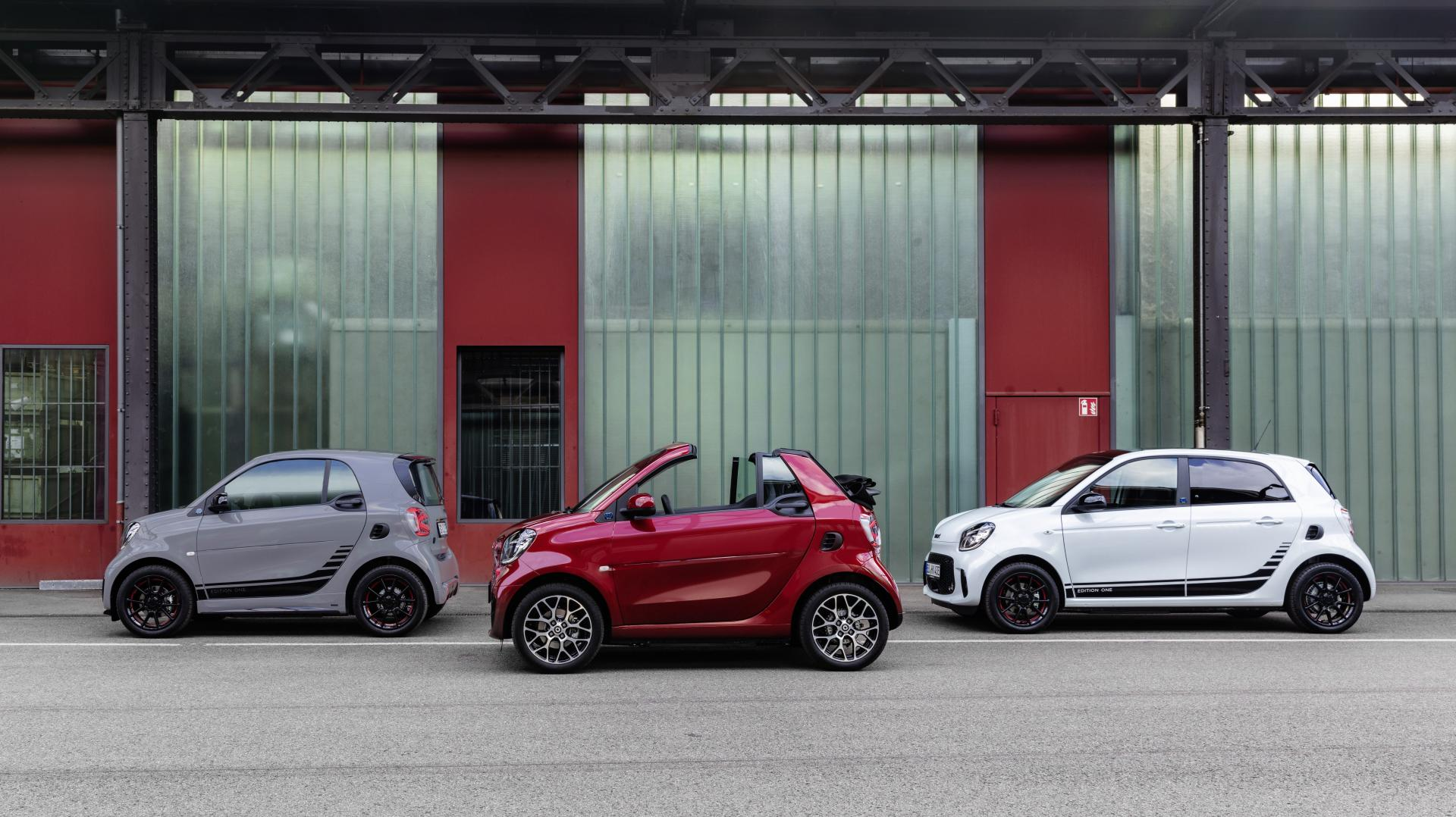 Smart Fortwo, Fortwo Cabrio en Forfour