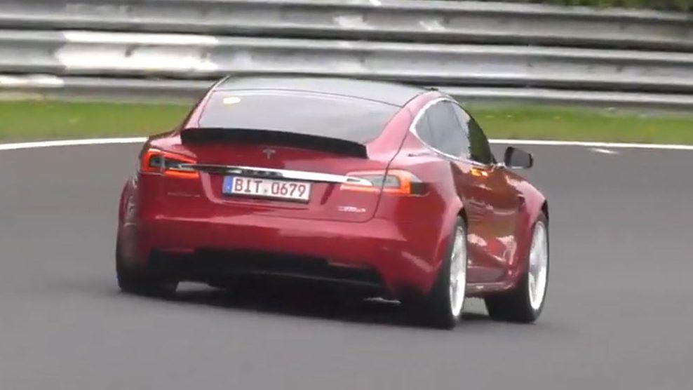 Tesla Model S op Nürburgring
