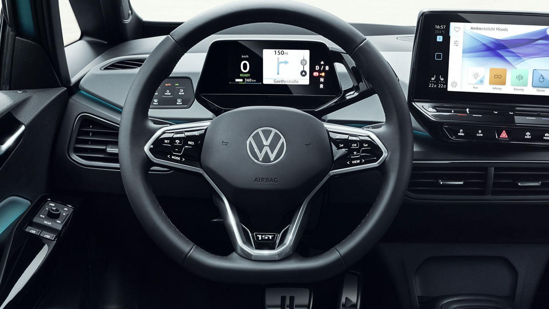 nieuw volkswagen-logo stuur