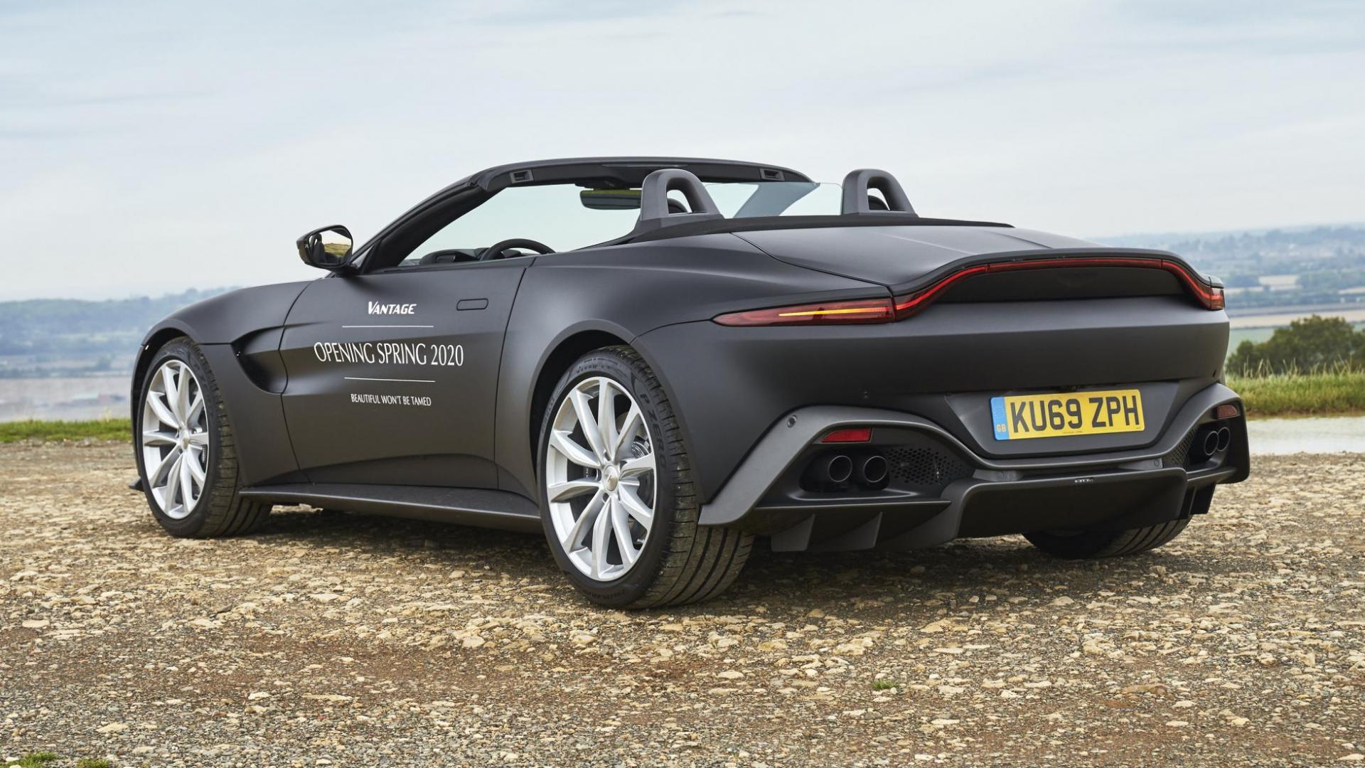 Aston Martin Vantage Roadster V8 2020 linksachter