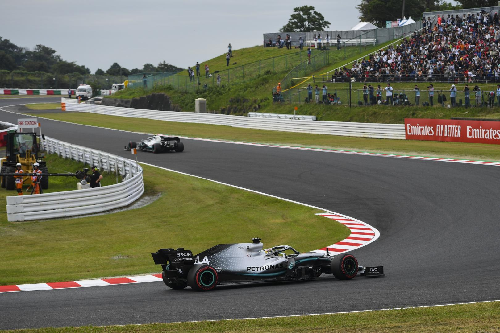 Beide mercedes auto's GP van Japan 2019