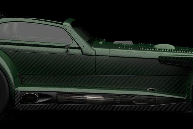 Donkervoort D8 GTO-JD70 zijkant detail