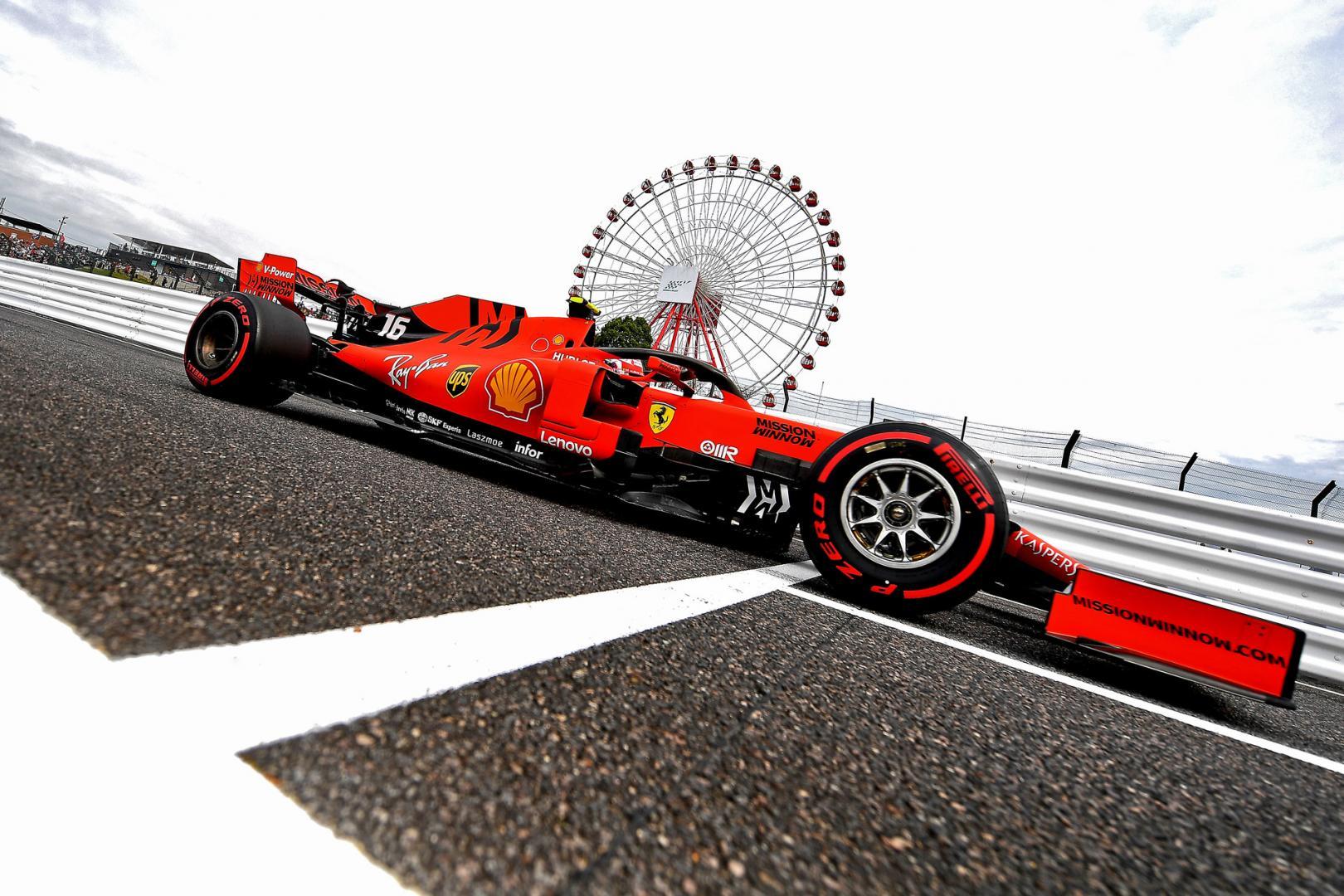 Leclerc met reuzerad GP Japan 2019 2