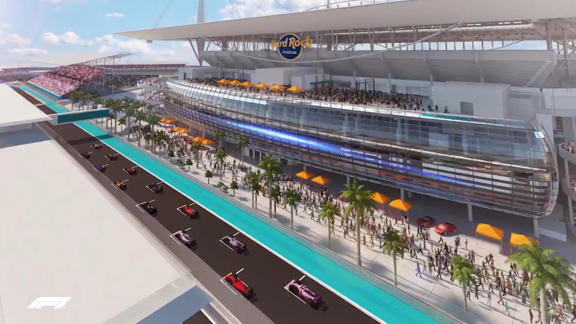 Miami GP startfinish