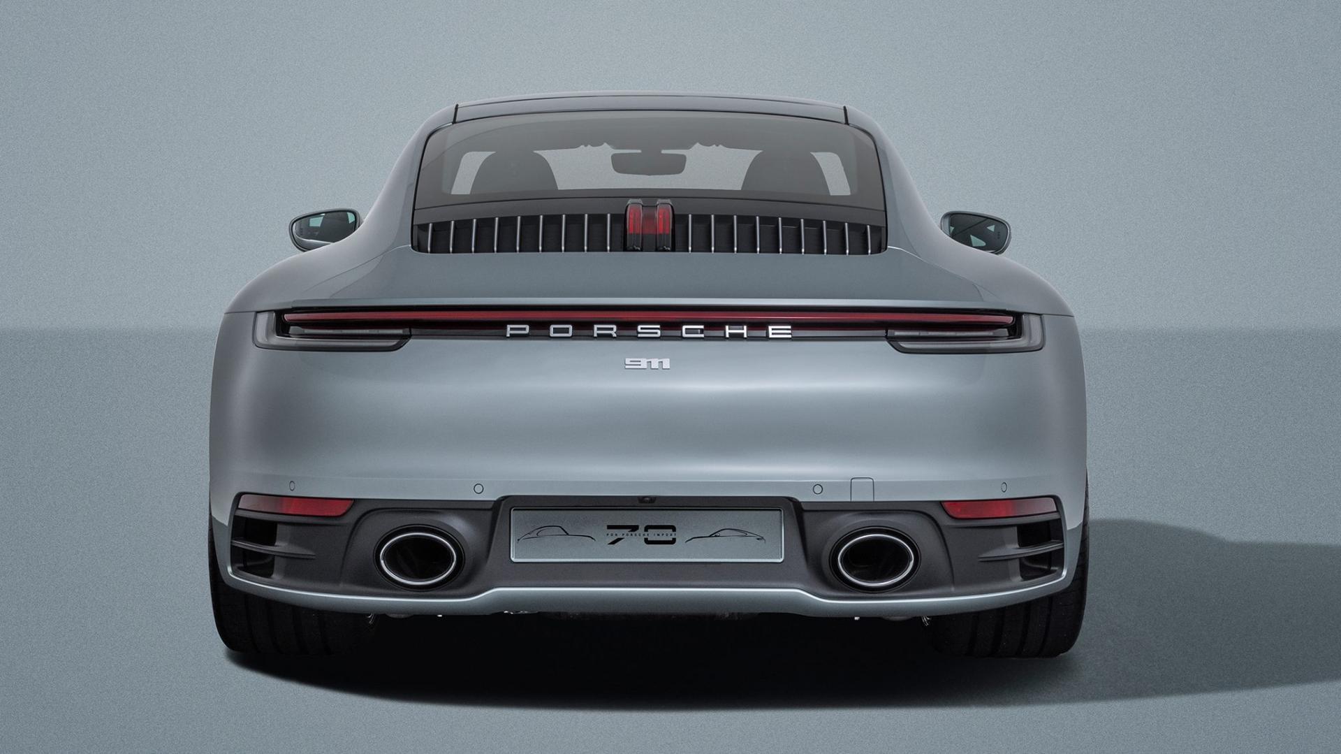 Porsche Carrera 911 4S Ben Pon jr achter ver weg