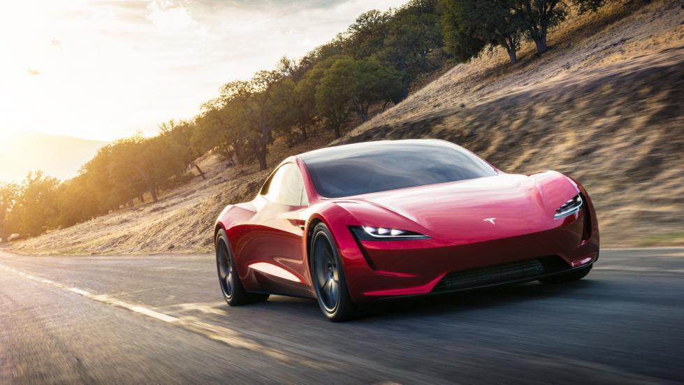 Tesla Roadster rechts voor