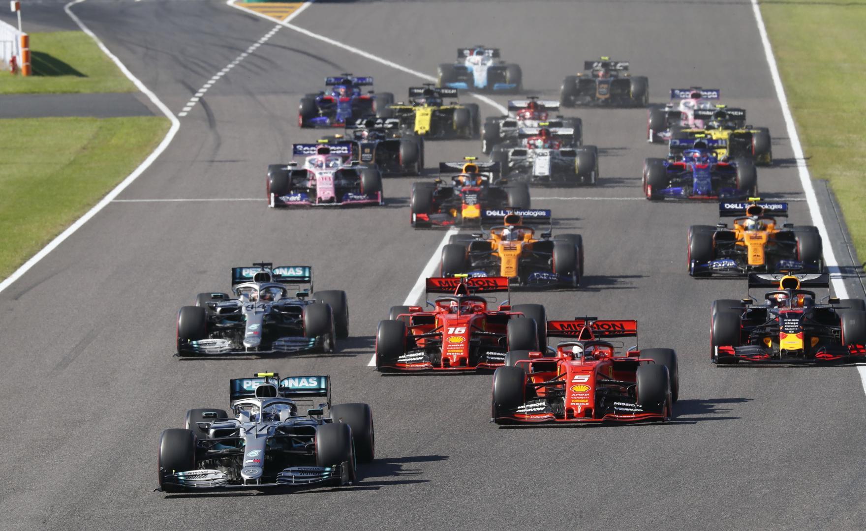 Bottas leidt GP van Japan 2019 voor de rest van het veld