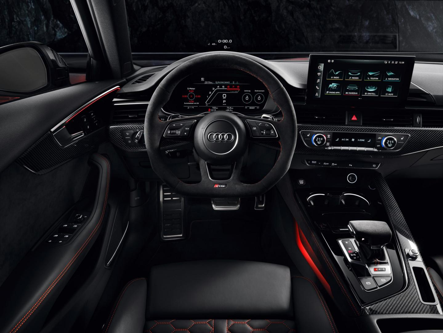 Audi RS 4-facelift 2019 interieur