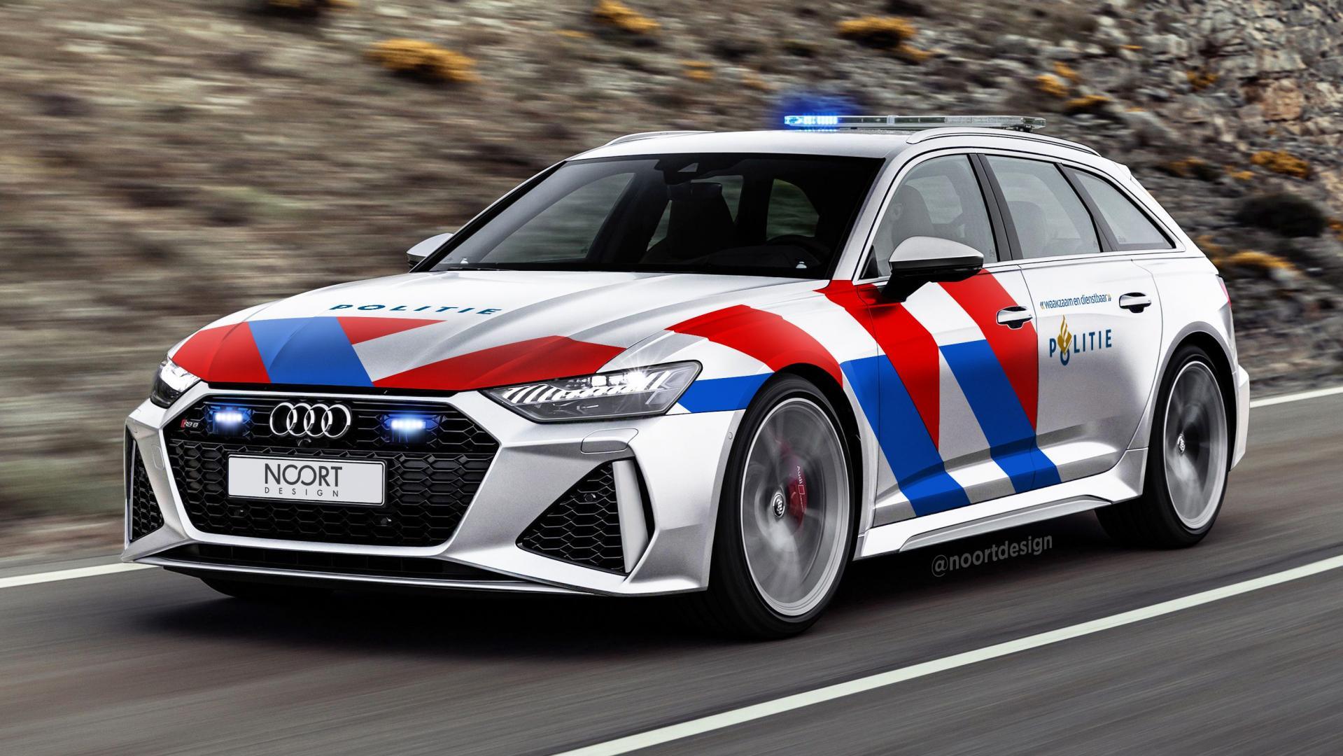 Audi RS 6 met politiekleuren