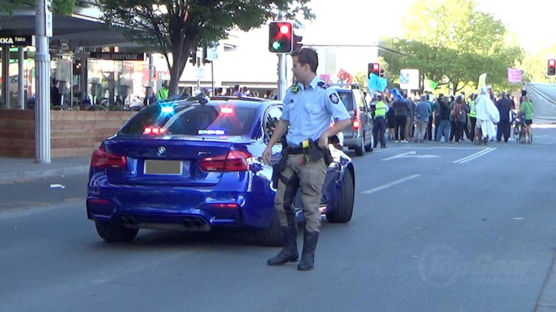 Onopvallende BMW M3-politieauto in Australie
