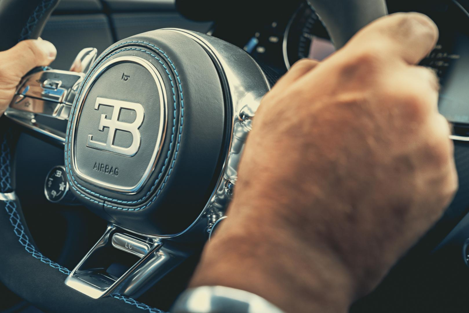 Bugatti Chiron Sport interieur stuur