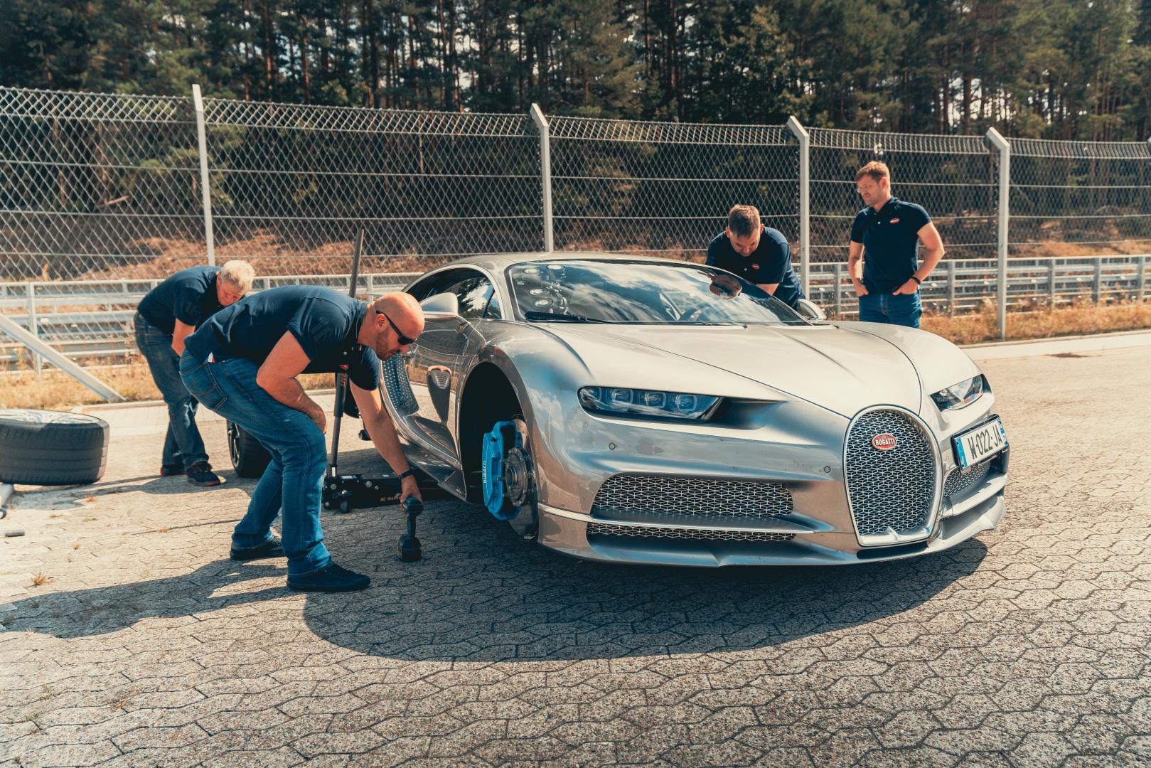 Bugatti Chiron Sport voor sleutelen