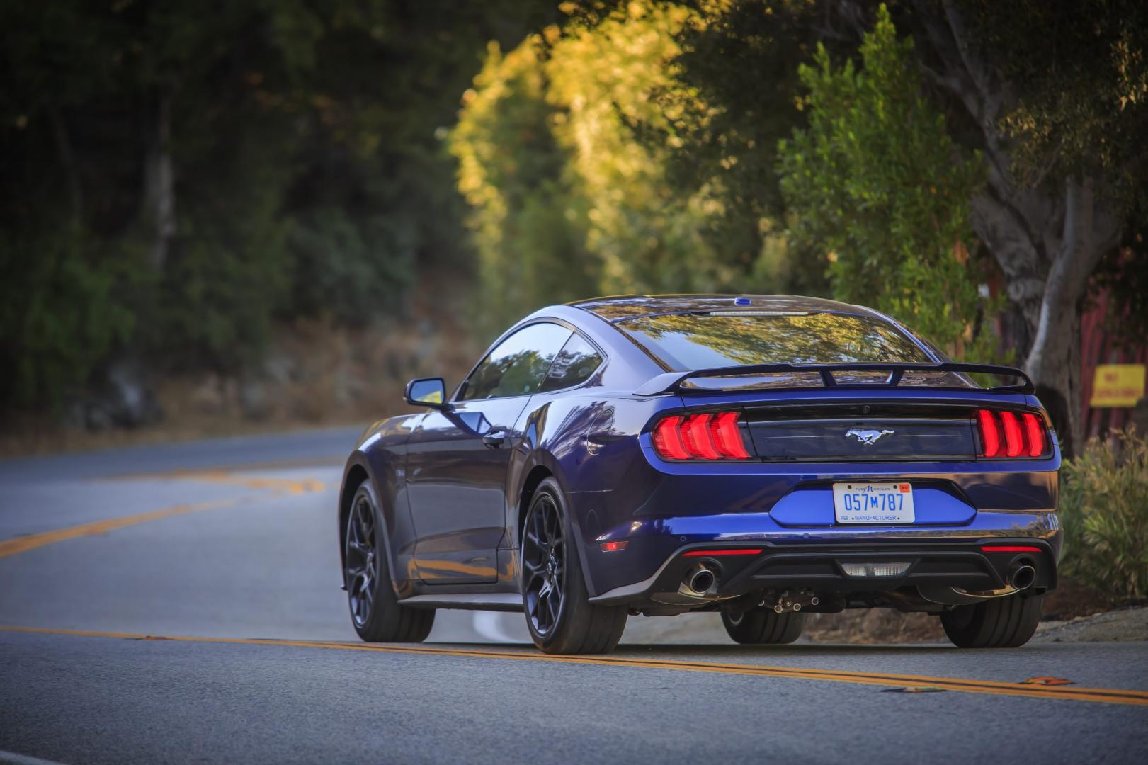 Ford Mustang Kona Blue with Performance Pack