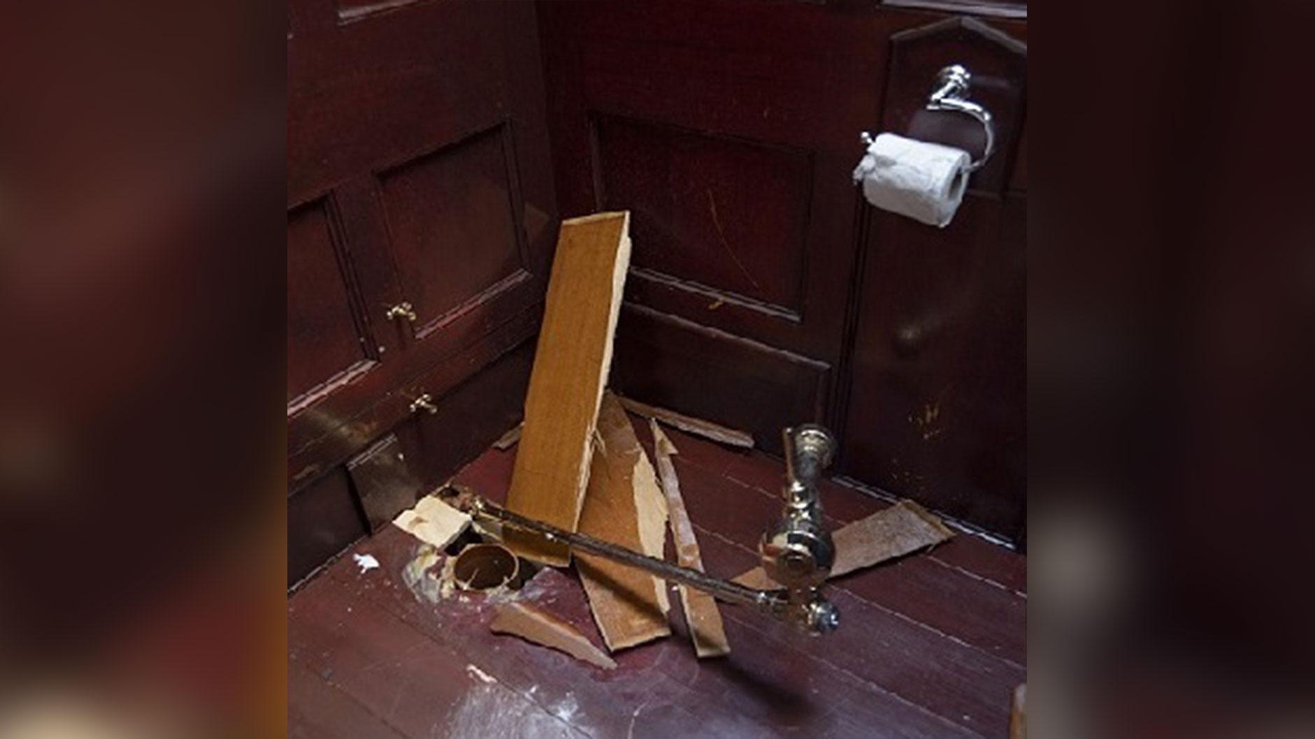 Gouden toilet gestolen