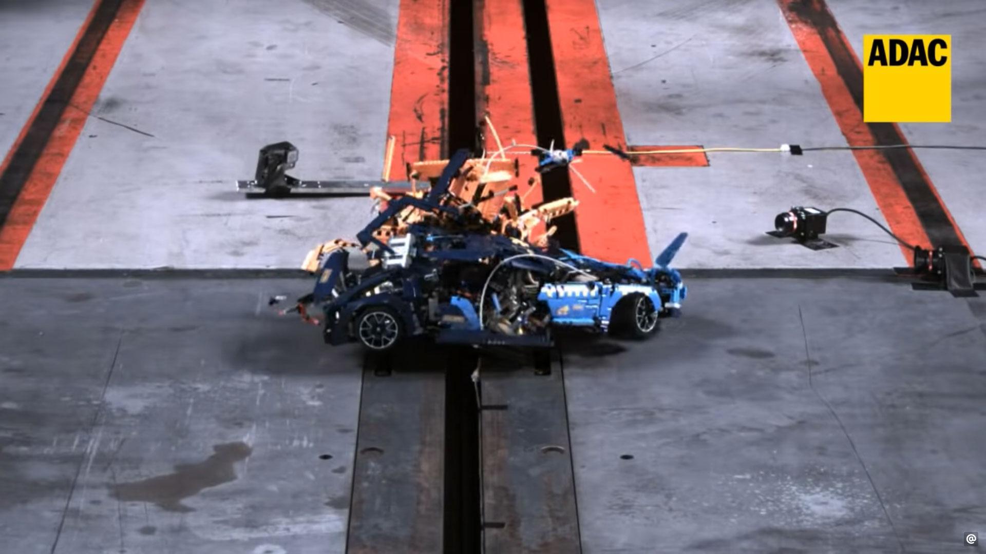 Lego Porsche Bugatti Crashtest