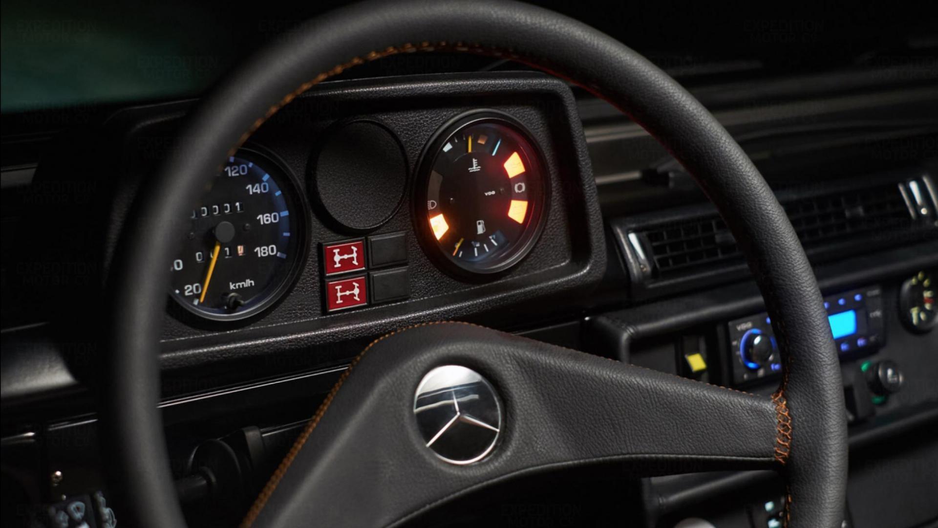 Mercedes 250GD stuur tellers